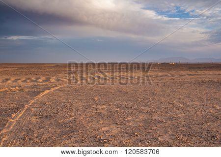Evening In The Desert In Egypt