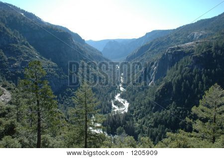 Yosemite Valley With River
