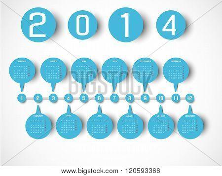 Calendar Timeline Style Blue