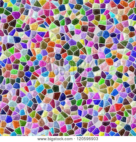 Reflect Full Color Marble Irregular Plastic Stony Mosaic Seamless Pattern Texture Background