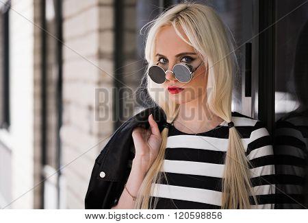 Portrait Of Pretty Blonde Girl