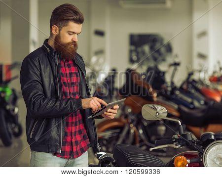 Man With Motorbike