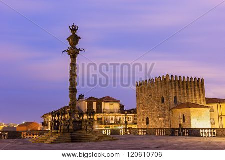Torre Medieval and Pillory of Porto in Portugal