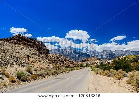 Street At The Alabama Hills, Sierra Nevada
