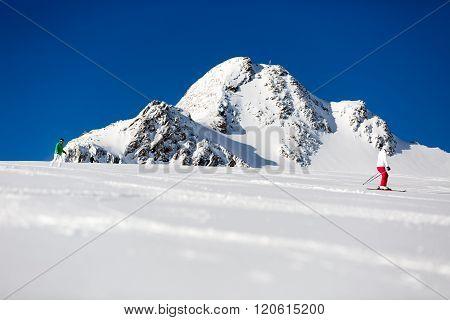 Blurred Skier