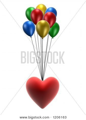 Heart And Balloons