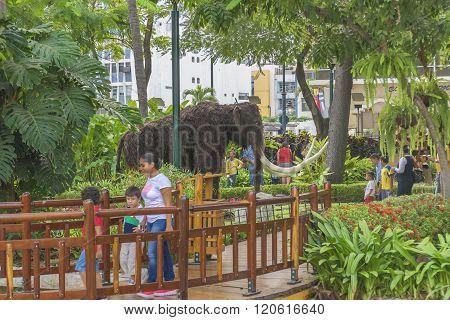Children Park At Malecon 2000 Guayaquil Ecuador
