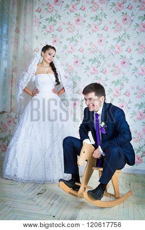 funny wedding scene