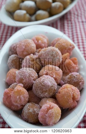 Carnivalesque Italian Sweet Called Castagnole