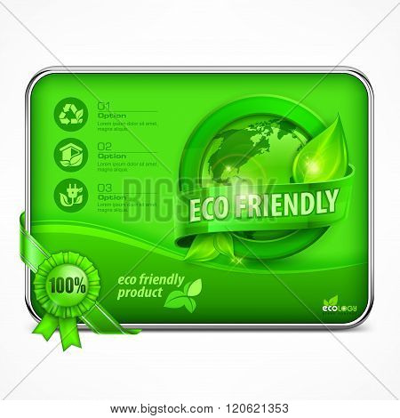 Eco Friendly Infographic In Green