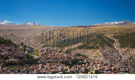 Cityscape Of La Paz From El Alto, Bolivia
