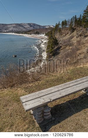 Bench On Cabot Trail