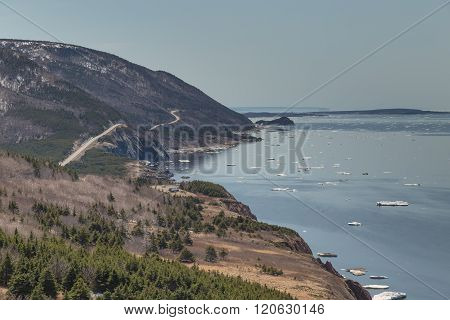 Winding Road At Cabot Trail Horizontal