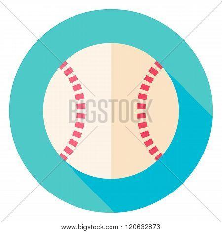 Baseball Ball Circle Icon
