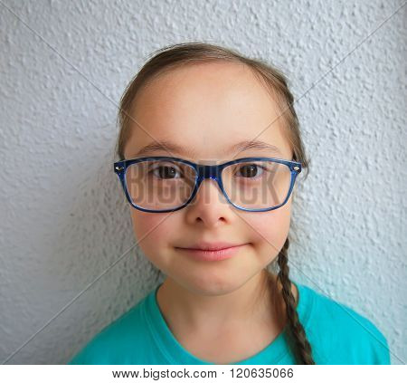 Portrait Of Beautiful Girl With Glasses