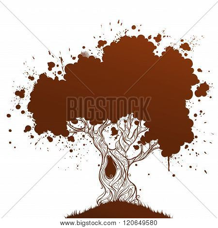 Grunge Ink Tree.