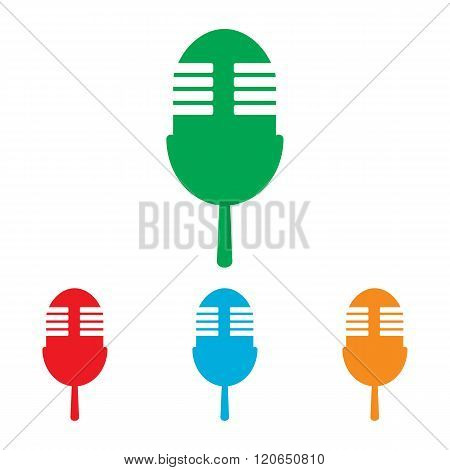 Retro microphone sign