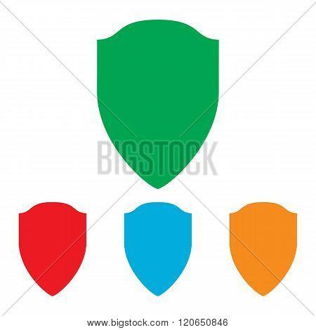 Shield sign. Colorfull set