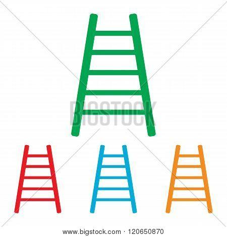 Ladder sign. Colorfull set
