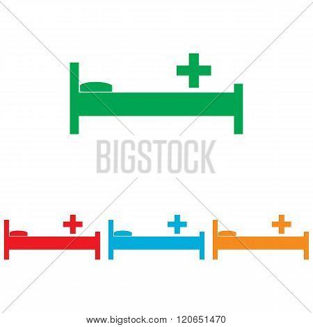 Hospital sign. Colorfull set