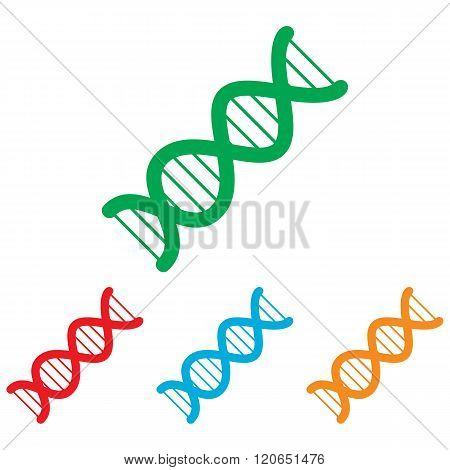 The dna sign. Colorfull set