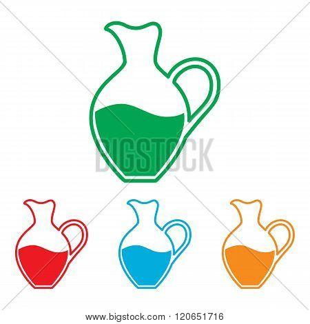 Amphora sign. Colorfull set