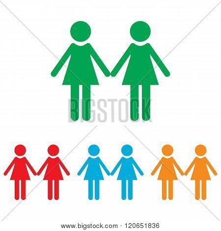 Lesbian family sign