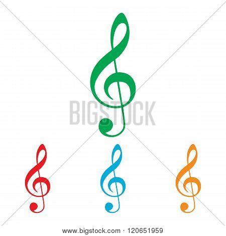 Music violine clef sign