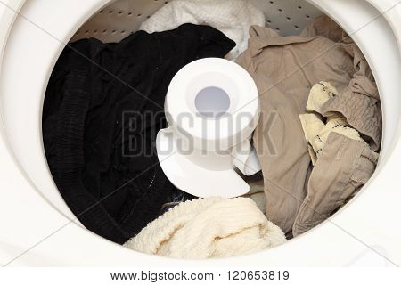 Clean Laundry In A Washing Machine