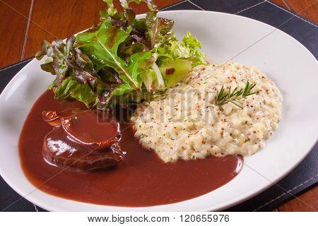 Fillet Migon With Piamontese Rice