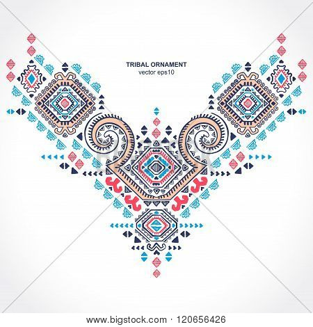 Tribal ethnic Mexican  ornament.