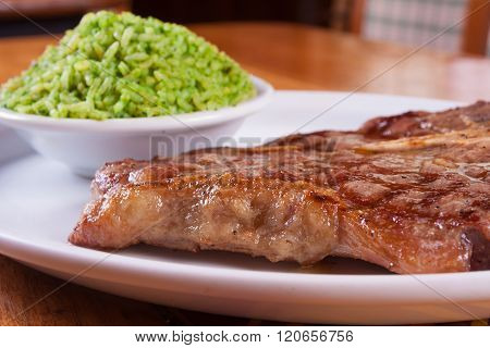 Pork Steak And Rice