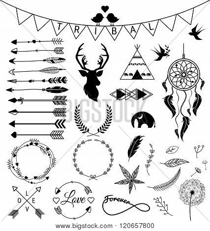Hand Drawn Arrows Tribal Designs