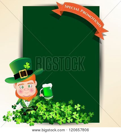 Man Holding Green Beer Juk For St Patrick S Day Party