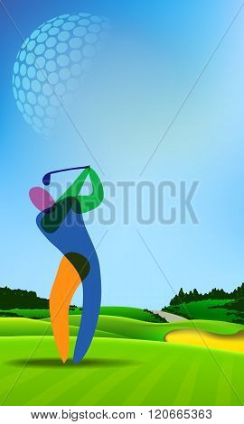 Golfer On Golf Course