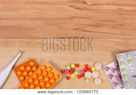 Medication And Accessories For Treatment Of Colds, Flu And Runny