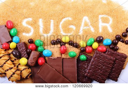 Cane Brown Sugar And A Lot Of Sweets