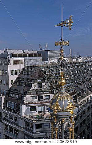 Aerial View From The Terrace Of Store Printemps, Paris 2