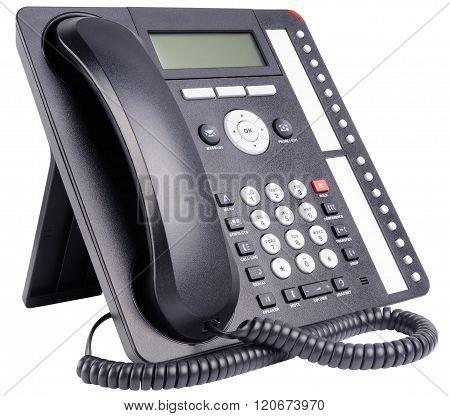 Office Telephone Set Isolated