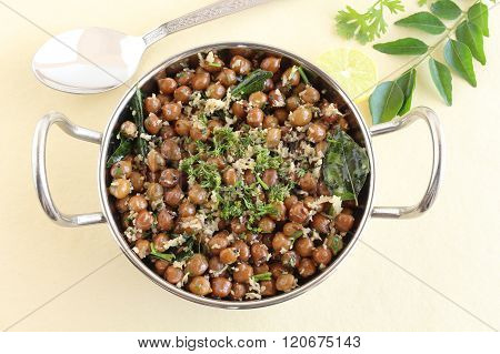 Indian Food Brown Chickpea Curry