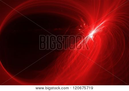 red Glow Wave. Lighting Effect Abstract Background For Your Business.