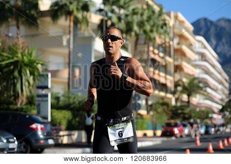 Runner Ahead In Black Suit