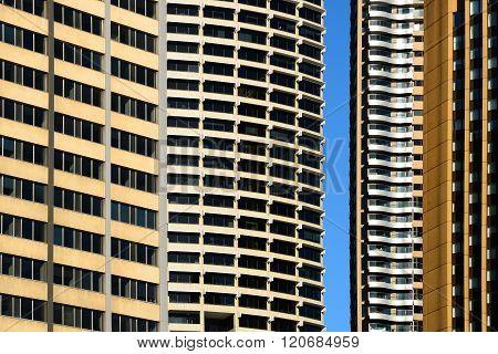 Skyscrapers Facades With A Gap