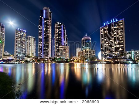 Australian Modern City At Night