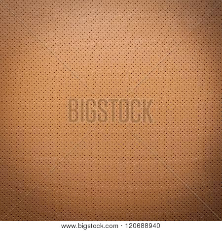 Yellow or light brown natural leather background