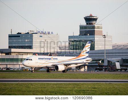 SmartWings Boeing 737-800 in Prague