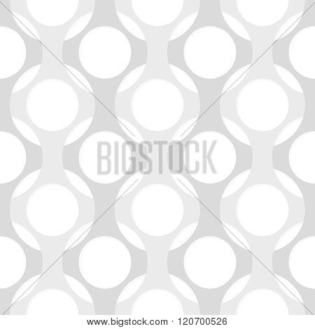 Seamless Monochrome Pattern. Vector Abstract Background