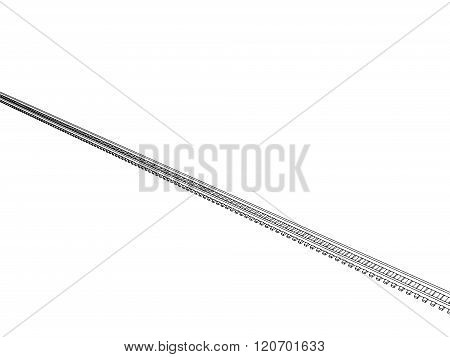 Railway vector illustration on white