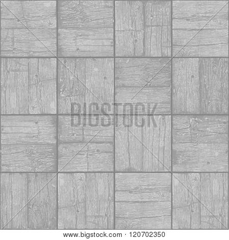 Old Parquet Floor Background - Vector Monochrome Grunge Element For Design