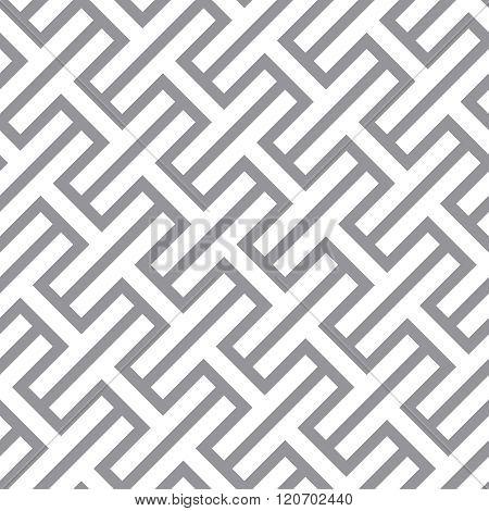 Simple Geometric Vector Seamless Monochrome Pattern - Gray Figures Design